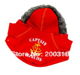 Wholesale Wholesale Dog Clothes Usa - Wholesale-New Arrival USA Captian Pet Dogs Coat for dog Free shipping dogs clothes