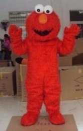 Wholesale Eva Long - Factory direct selling high quality Long Fur Elmo Mascot Costume Character Costume Cartoon Costume Elmo MASCOT Free Shipping