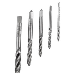 Wholesale Metric Threading Sets - New M8 Titanium High Speed Steel HSS Screw Thread Metric Spiral Plug Tap Kit bit Tap Tapping Screw Thread