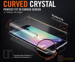 Nuevo Protector Para Samsung Galaxy S6 Edge pantalla frontal + contraportada Para Pantalla Completa de Borde de Silicona Material de Aislamiento a Prueba de Explosión desde fabricantes