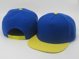 Wholesale Quality Blank Snapback Hats - High Quality Hot Selling blue yellow men women Plain Blank Snapback hats Snapbacks Snap Back Leisure Caps Hat Baseball cap LS