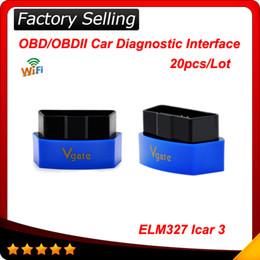 Wholesale Icar Wifi Vgate - 2016 Newest Vgate icar 3 wifi proffesional Car Diagnostic tool elm 327 OBDII OBD2 scanner tool ELM327 Wifi 20pcs Lot
