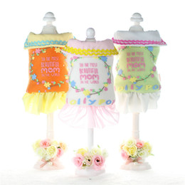 Wholesale Cheap Easter Clothes - Garden color dog clothes for small dogs girl dog costumes Autumn and winter cheap dog clothes