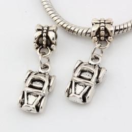 Wholesale Convertible Cars - Hot ! 120 pcs Antique silver Alloy Car Automobile Convertible Charms Dangle Bead Fit Charm Bracelet DIY Jewelry 26 x 9mm