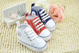 Wholesale White Baby Canvas Shoes - 10% off 2015 cheap wholsale Kids Baby Sports Shoes Boy Girl First Walkers Sneakers Baby Infant Soft Bottom walker Shoes 5pairs 10pcs