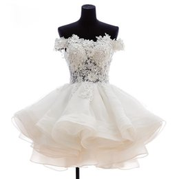 Wholesale Lovely Sexy Gowns - 2015 New Lovely Short Homecoming Dresses Sweetheart Flowers Organza Graduation Dresse Party Prom Formal Gown WD179