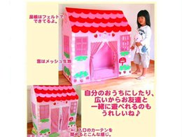Wholesale Toy Pop Up Tent - Playhut Pop up Tent Bounce Houses Baby Toys Princess Party Boutique Play Hut Tent House Kids Girls Fun Indoor Outdoor Pop Up