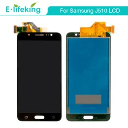 Wholesale Test Digitizer - 100%Tested LCD Display For Samsung J5 J510 J7 J710 2016 Touch Screen Digitizer Assembly LCD Replacement AAA+++High Quality+Free DHL Shipping