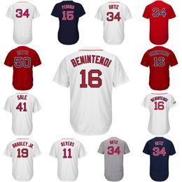 Wholesale Pedroia Jersey - 2017 Postseason #16 Andrew Benintendi Jersey #15 Pedroia #50 Betts #41 Sale #2 Bogaerts #24 Price #13 Ramirez #34 Ortiz Baseball Jerseys