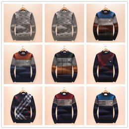 Wholesale Crochet T Shirt Color - 2018 Luxury Brand Men's Sweaters T Shirt High Quality Men Sweater Size M-3XL 2017 New Designer Style Fashion Luxury Clothes Size M-3XL