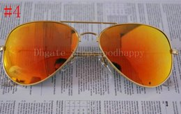 Wholesale Lens Band - fast ship New Fashion Gold frame  Yellow lens Arrival Men's  Women's Band Sunglasses With Box,AAA