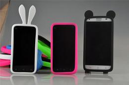 Canada Universel Silicone Lumineux Bumper Cadre Mickey Lapin Couronne Souple En Caoutchouc Bracelet pour iPhone 6 s Samsung s6 Edge Plus HTC Nokia Caméra cheap iphone rubber frame Offre