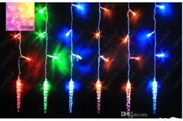 fil étoile rouge Promotion LED Rideau De Chaîne Lumière coloré Longue chaîne de glace lampe complète tonnelier core Décoration Lumière pour la Fête De Noël Mariage HSA1340
