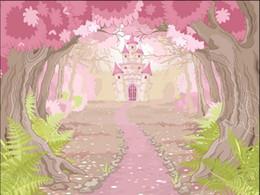 3d Wall Murals Wallpaper For Kids Room Forest Castle Fairy Tale World Childrens Modern Wallpape