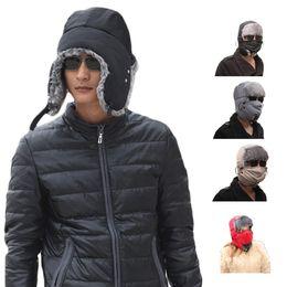 Wholesale Mens Cowboy Beach Hat - S5Q Unisex Trooper Earflap Ski Hat Mask Mens Women's Winter Trapper Aviator Warm AAAEGJ