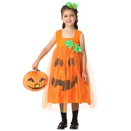 Wholesale Childrens Clothes Free Shipping - Free Shipping Teenage Role Playing Cosplay Halloween Pumpkin Cloth Authentic Childrens Clothes Performance Clothing Skirt EK199