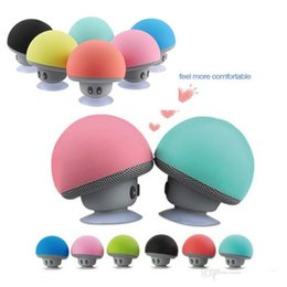 Wholesale Mini Mushroom Bluetooth Speaker - Mini Mushroom Wireless Bluetooth Speaker Portable Waterproof Shower Stereo Subwoofer Music Player For iPhone Mobile Phone