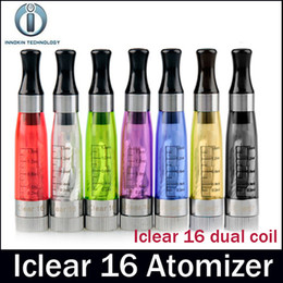 Wholesale Iclear 16 Replaceable - Innokin iClear 16 Atomizer clone 2.0ohm dual coil Replaceable atomizer Head 1.6ml capacity tank fit 510 eGo Thread battery