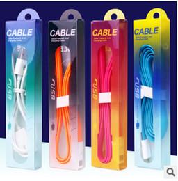 2019 einzelverkauf iphone 5s aufladeeinheit 2015 Dual Farbe Universaltail 1 Mt 3ft Micro USB Kabel Ladegerät Adapter pvc einzelhandel verpackung paket box für Iphone 5 S 6 plus Samsung S6 günstig einzelverkauf iphone 5s aufladeeinheit