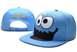 Wholesale Sesame Street Caps - Sesame Street Snapback Hats Adjustable Caps Flat Brim Caps Cheap Hats Blue Headwear Streetwear for Sale TYMYC 14