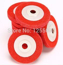 Wholesale Grinding Abrasive Wheel - 10pcs Long wheel polishing wheel fiber non-woven abrasive wheels polished grinding wheel 100 * 16 order<$18no track