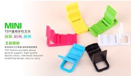 Wholesale Wholesale Plastic Bracket - Cell Phone Stents folding Bracket Colorful Cell phone Mounts Plastic Holders Best Gift for Customers