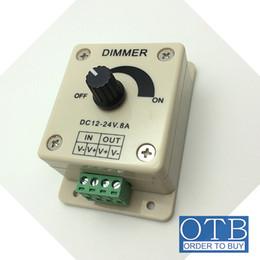 Wholesale Dimmer 12 - Order to buy LED Dimmer 12V 8A Single Color Knob Controller for 3528 5050 5630 3014 Warm Cool White LED Strip Lights
