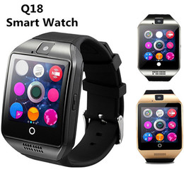 Wholesale Golden Connections - Q18 Bluetooth Smart Watch For Android Smart Phones Support SIM Card NFC Connection Health Smartwatch with Retail Package