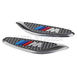 Wholesale Bmw E46 Door - Car Styling Motosport   M Car Fender Side Door Sticker For BMW E46 E52 E53 E60 E90 E91 E92 F30 F20 F10 F15 F13 M3 M5 M6 X1 X3 X5 X6