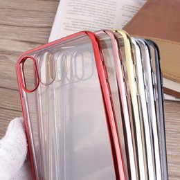 Wholesale Gild Phone - Phone Case For iPhone X 8 8 Plus 7 7plus 6 6s plus Royal Luxury style Plating Gilded TPU silicone soft Back Cover