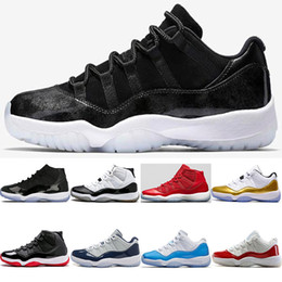 Wholesale cream products - 2018 Hot Products 11 Barons Men Basketball Shoes high quality 11s Space Jam 45 Gym Red Concord sneakers EUR 40-47