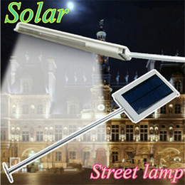 Wholesale solar powered outdoor path lights - Waterproof 12 LED Solar Powered Sensor Lighting Ultra-thin Outdoor Path Wall Street Light Garden Lamp Emergency Lamp Solar Street Lights