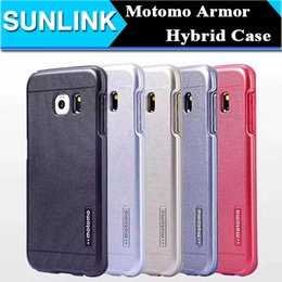 Wholesale Covers For Galaxy Ace - New Motomo Armor Case Hybrid TPU+PC Back Cover for iPhone 5 5s 6 6s Plus Samsung Galaxy S6 Edge Plus Note 5 4 J5 J7 J3 J2 J1 Ace G530