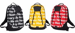 Wholesale Brand Ss - by Any Means Necessary Backpack 15FW Brand Joint Backpack High Quality Nylon Backpacks Unisex Street Backpack ss sup bag