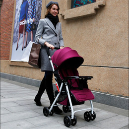 Wholesale Stroller Shock Absorbers - New Baby Stroller Autumn and Winter Lightweight Child Trolley Baby Car Umbrella Strollers Folding Pushchair With Shock Absorbers