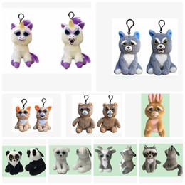 Wholesale Creepy Animal - Feisty Pets Minis Plush toys keychain Animals creepy pets Plush 10CM mini keychain Plush keyring pendant KKA3417