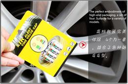 Wholesale Valve Toyota - 10sets(40pcs) air alert tire valve cap Car tire pressure monitoring Automobile tire pressure 2.4BAR 36PSI TPMS tool 3 color alert dhl