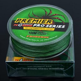 Wholesale Spectra Braided - PREMIER PRO Series Braid Line 4 Strand Ocean Rock Spectra Fshing Wire 100m PE Line Fiber From Japan 18lb~100lb