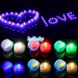 Wholesale Tealight Party Lamps - Colorful Waterproof LED Submersible Candles Tealight Lamp Fish Tank Vase Decor Lighting For Wedding Birthday Party Bar Decoration DHL USA
