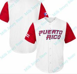 Wholesale Wbc Jersey - Puerto Rico 2017 WBC Jersey Carlos Beltran Jose Berrios Hiram Burgos Alex Claudio Edwin Diaz Seth Lugo Yadier Molina Javier Baez Rene Rivera