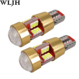 Wholesale Motorcycle Instrument Led - WLJH Canbus Car LED Light W5W LED T10 3014 SMD 27 Led 12V Bulbs Motorcycles Source Interior Light External Lights Universal