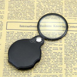 Wholesale Folding Pocket Magnifiers - Microscope Mini Black Pocket magnifier Loupes spiegel 5X 50mm  5X 60mm MG86034 Folding Jewelry Magnifiers Magnifying Eye Glass Loupe Lens