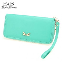 Wholesale Wallet Zipper Compartment - 2015 Hot Sale Fashion Women wallet famous designer pu leather Women candy corlor purse with zipper free shipping 57
