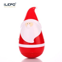Wholesale Novelty Buttons Wholesale - Christmas Gift Bluetooth Speakers Santa Claus Mini Wireless Portable Tumbler Roly-poly Speaker Stereo Music Player Novelty Christmas Gift