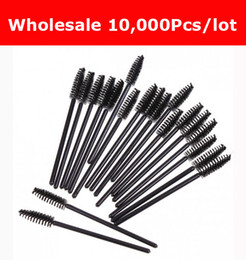 Wholesale Wholesale Cosmetic Cheap - Cheap Price 10,000pcs lot NEW Sale Black Disposable Eyelash Brush Mascara Wands Applicator Makeup Cosmetic Tool