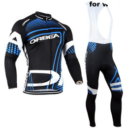 Wholesale Orbea Cycle Clothing - long sleeve team Orbea Cycling Jersey Bike Jerseys + cycling pants orbea 2015 Men sports riding Suits bicycle clothes for men