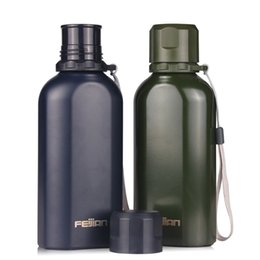 Wholesale Thermos Flask Large Capacity - Sword stainless steel bike thermos flask lanyard lanyard water bottle flat pot large capacity chinese thermos leakproof 700ml