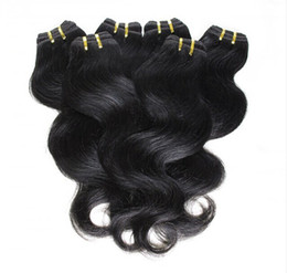 Wholesale cheap brazilian extensions - Cheap Hair! 20bundles lot 100% Brazilian Virgin Hair Human Hair Weave Wavy Body Wave Natural Color Hair Extensions Wholesale Free Shipping