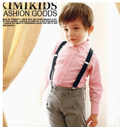 Wholesale Boys Brace Trousers - Children Suspender Clothes Child Casual Pants Fashion Long Trousers Braces Suspenders Boy Pants Kids Trouser Children Clothing
