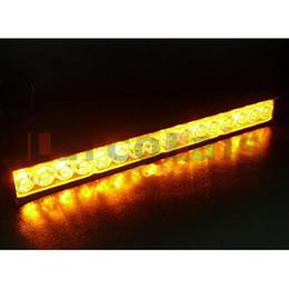 Wholesale Led Amber Warning Light Bars - 16 LED Traffic Advisor Flash Strobe Light Bar Warning Flashing Lamp